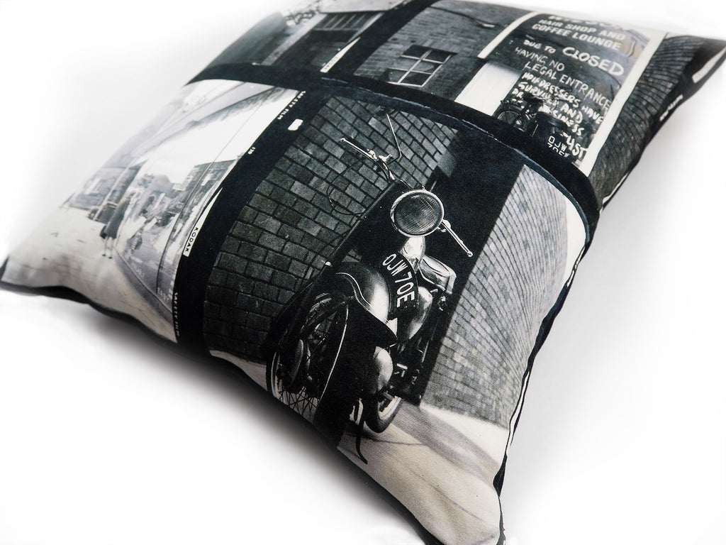 Handmade cushion in vintage 1960s photos print