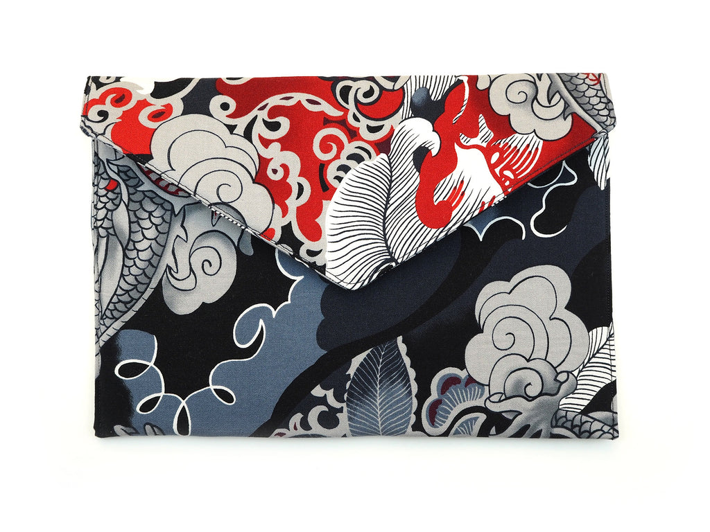 Handmade clutch bag in Alexander Henry fabric