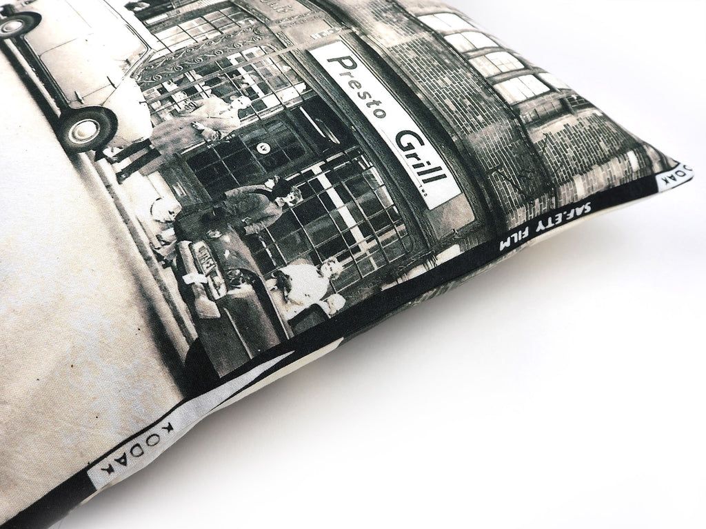 Vintage photo print cushion