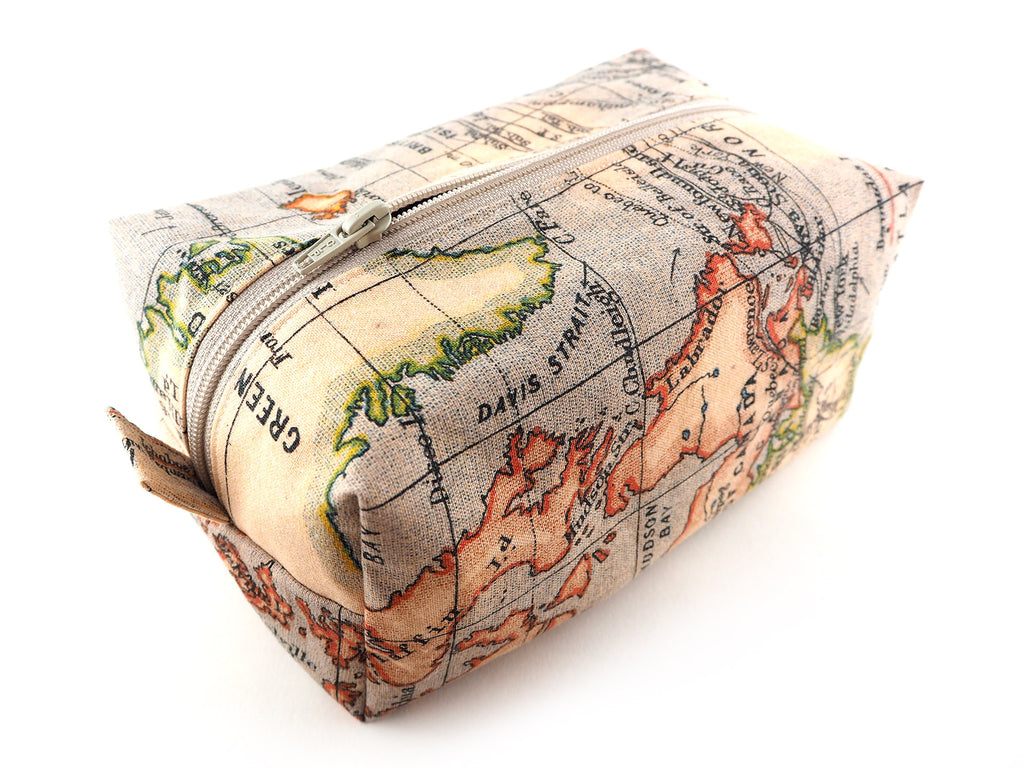 Max and Rosie Handmade antique atlas print storage bag
