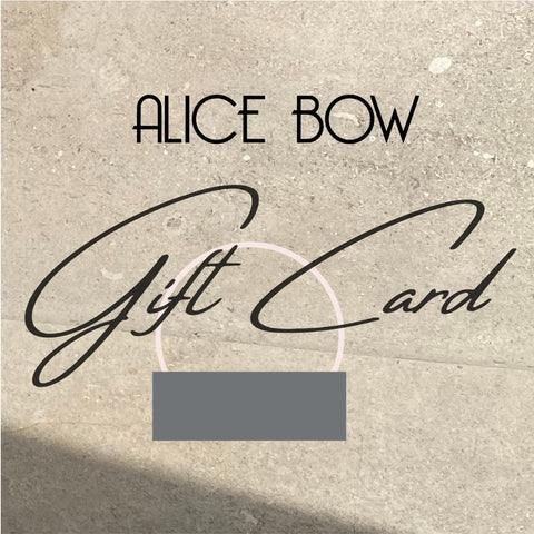 Alice Bow Gift Card <br/>$25 / $50 / $75 / $100+