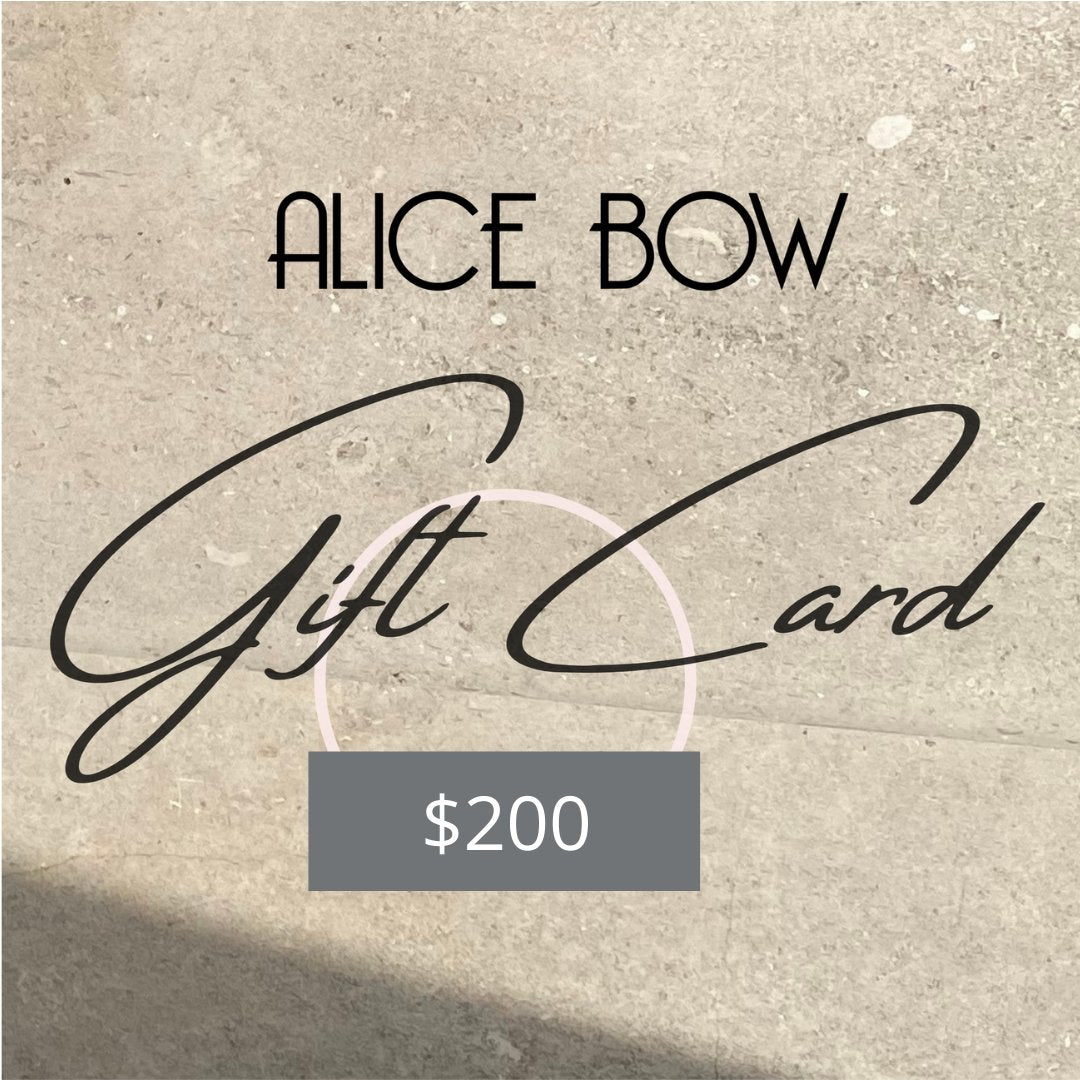 Alice Bow Gift Card <br/>$25 / $50 / $75 / $100+ - Alice Bow