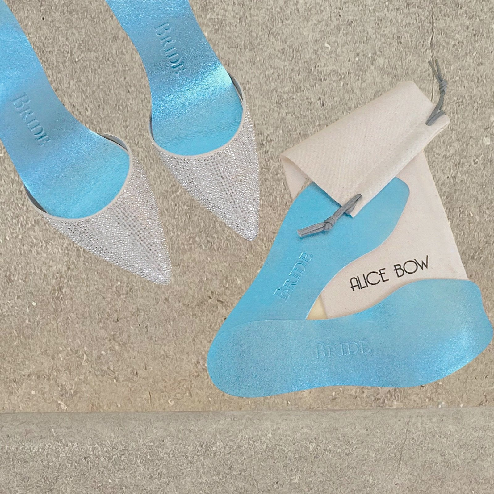 Bridal Blue Insoles - For Flat Shoes - Alice Bow
