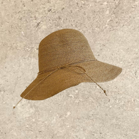 Foldable Knotted Raffia Sun Hat