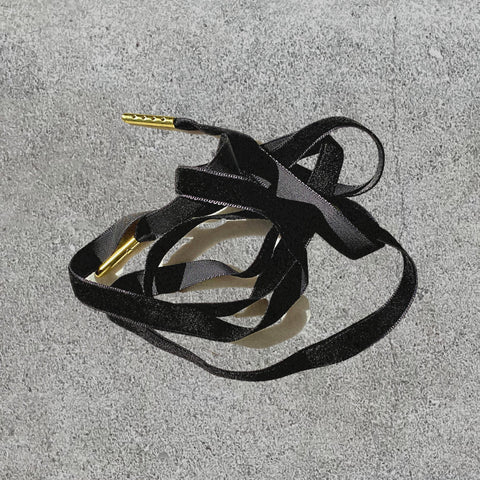Velvet Shoelaces - Midnight Black
