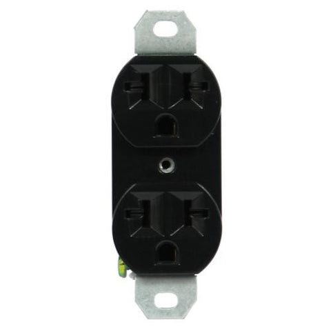 120/240 20A-universal duplex outlet black