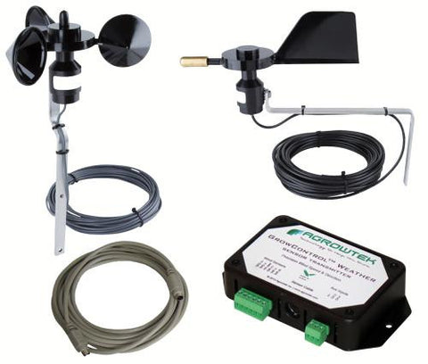 Agrowtek GrowControl Wind Sensor Kit w/ Weather Transmitter (3/Cs)