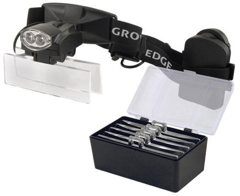 Grower's Edge iSunlight LED Headband Magnifier w/ 5 Lenses 1.0x - 1.5x - 2.5x - 3.0x - 3.5x