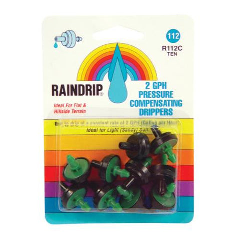Raindrip 2 GPH Dripper Blister Card 10/Pack