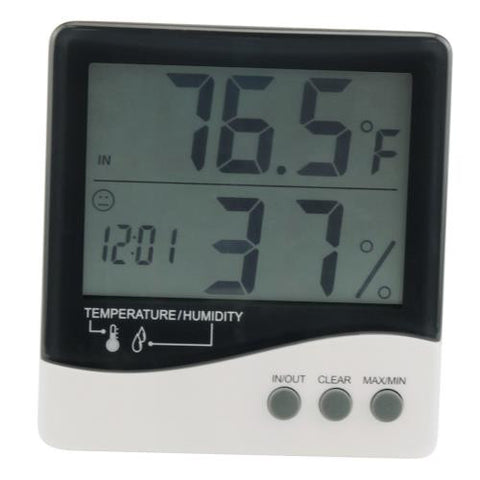 Grower's Edge Large Display Thermometer / Hygrometer (20/Cs)
