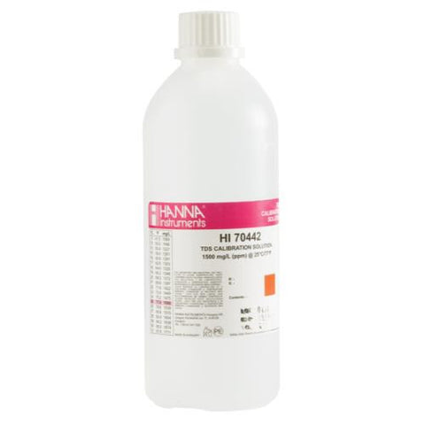 Hanna 1500PPM Calibration Solution Pint (12/Cs)
