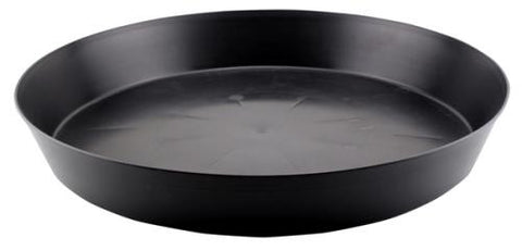 Black Premium Plastic Saucer 18 in (10/Cs)