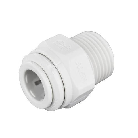 Ideal H2O JG Quick Connect Fitting - 3/8 in to 3/8 in NPTF - White (10/Bag)