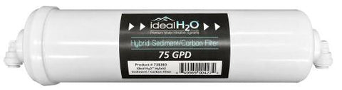 Ideal H2O Hybrid Sediment/Carbon Filter (12/Cs)