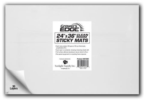 Grower's Edge Cleanroom Sticky Mat 24 in x 36 in (10/Cs)