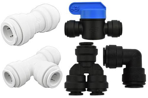 Ideal H2O JG Quick Connect Fitting - 1/4 in to 1/4 in NPTF - Black (10/Bag)