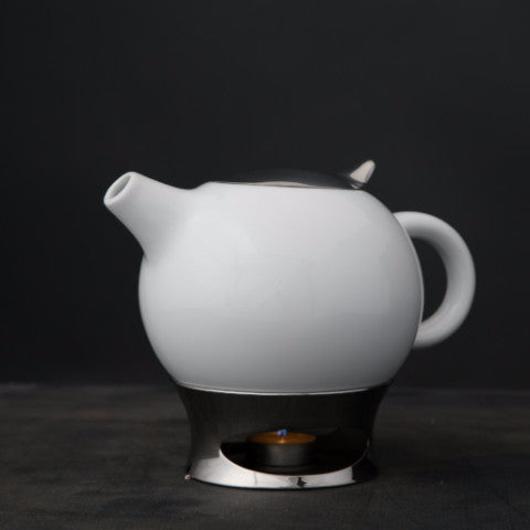 Nambe Bulbo Teapot w/Infuser and Warmer