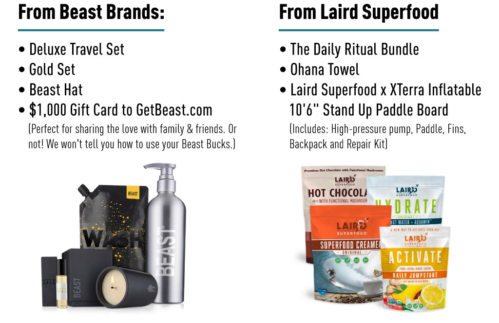 Beast x Laird Superfood Giveaway Prizes
