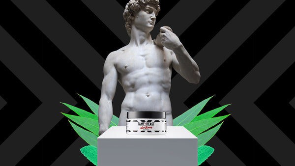 Michelangelo's David with Tame the Beast Nutt Butter Luxurious