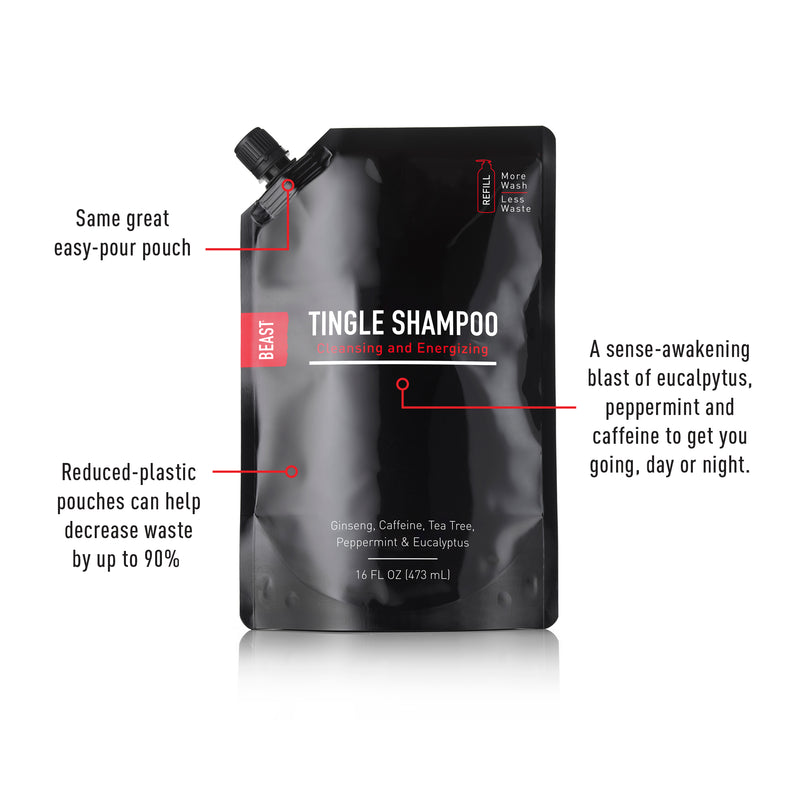 Best Tingle Shampoo for Healthy Scalp 16oz Refill Pouch