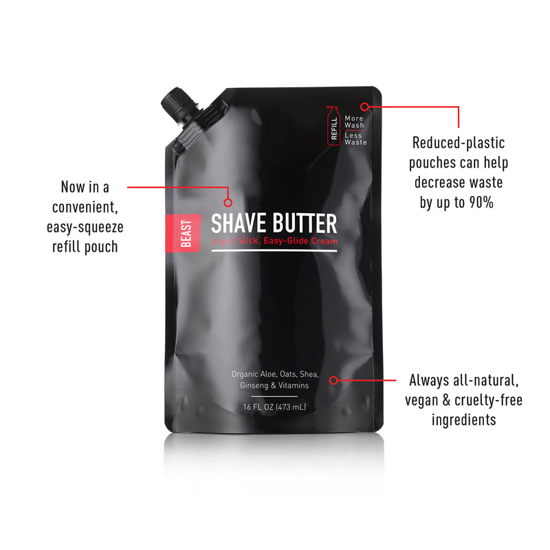 Beast Butter Shave Cream Refill 16oz Pouch