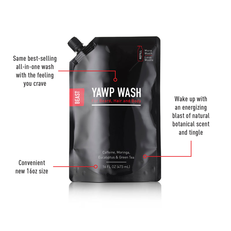Extreme Yawp Wash 16oz Refill Pouch