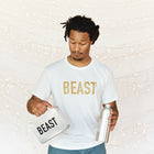 Beast Shirt Mens with Bottle and Lunch Box