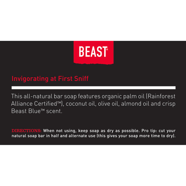 Tame the Beast Natural Bar Soap with Beast Blue Scent with Organic Essential Oils