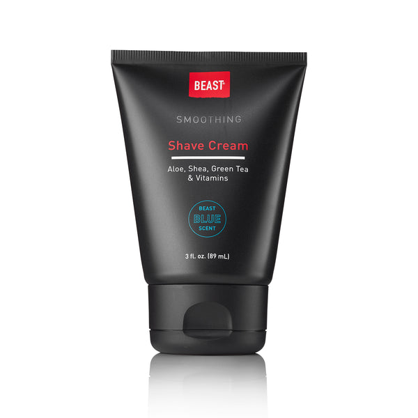 Beast Blue Shave Cream with Aloe Green Tea Vitamins Shaving