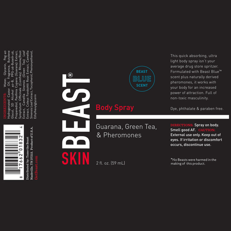 Beast Body Spray with Pheromones