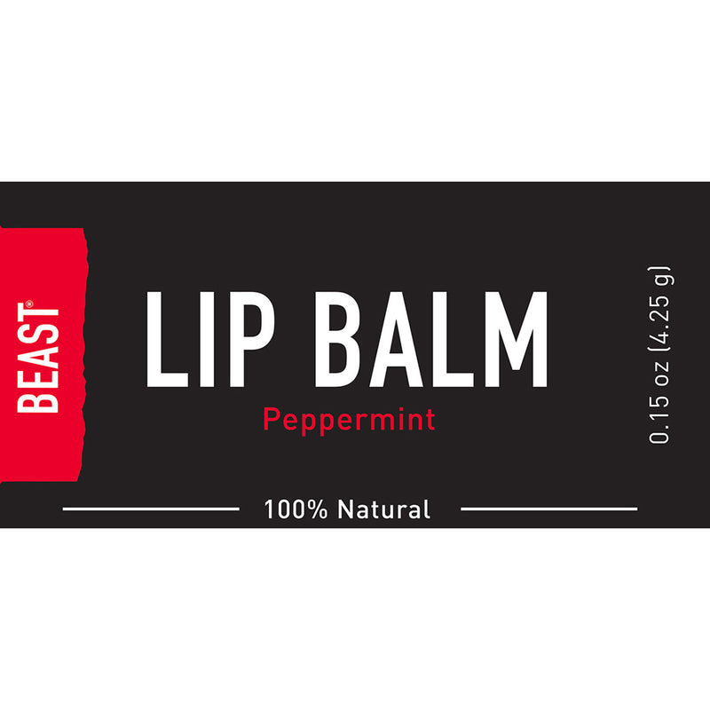Tame the Beast Men's natural organic peppermint lip balm with a light refreshing tingle