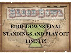 Eirie Downs Final Standings and Play Off Spots!
