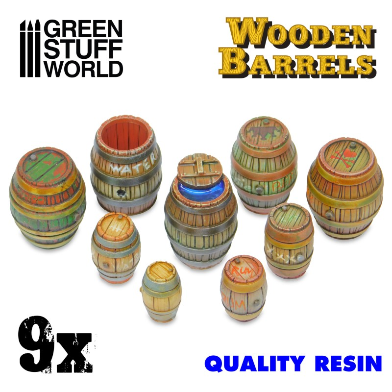 Wooden Barrels (9x Resin Barrels)