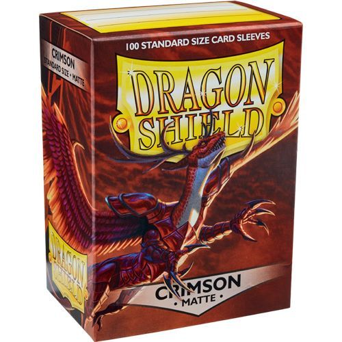 Dragon Shield Sleeves Matte Crimson (100)