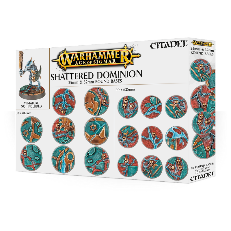 Citadel Shattered Dominion 25mm & 32mm Round Bases