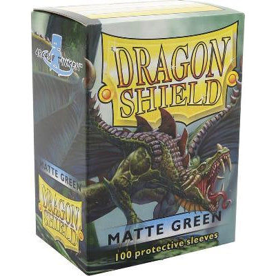 Dragon Shield Sleeves Matte Green (100)