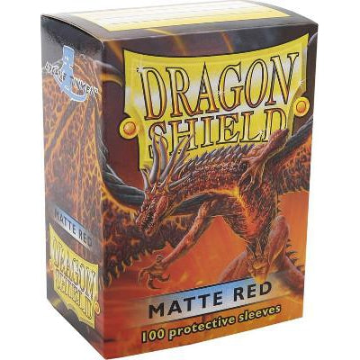 Dragon Shield Sleeves Matte Red (100)