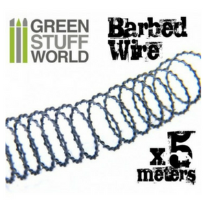 5 meters of simulated BARBED WIRE