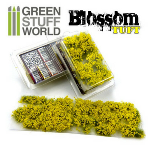 Blossom TUFTS - 6mm self-adhesive - YELLOW Flowers
