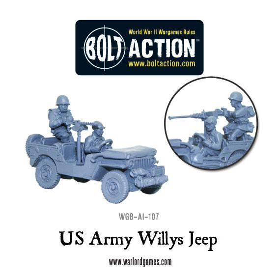 US Army Willys Jeep with stowage