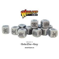 Bolt Action Orders Dice - Grey (12)