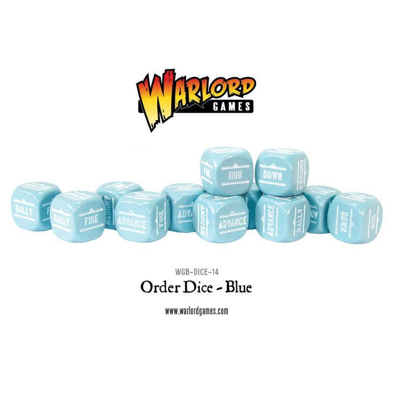 Bolt Action Orders Dice - Blue (12)
