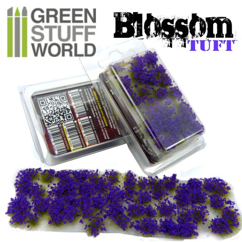 Blossom TUFTS - 6mm self-adhesive - PURPLE Flowers