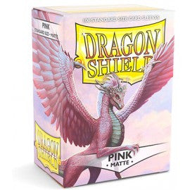 Dragon Shield Sleeves Matte Pink (100)
