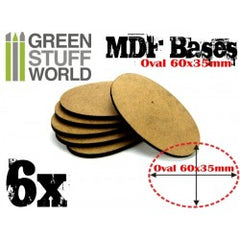 MDF Bases - AOS Oval 60x35mm