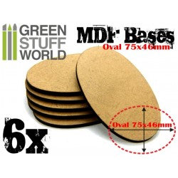 MDF Bases - AOS Oval 75x46mm