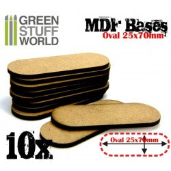 MDF Bases - Oval Pill 25x70mm