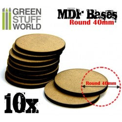 MDF Bases - Round 40 mm