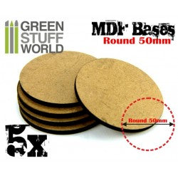 MDF Bases - Round 50 mm