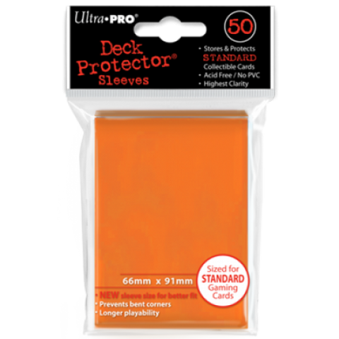 Ultra Pro Standard Sleeves Orange (50)